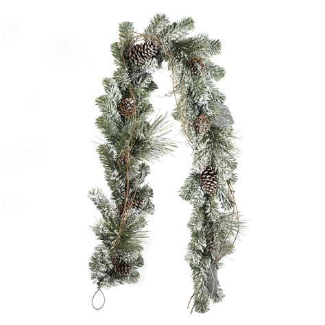 jaclyn smith 6 frosted pine garland