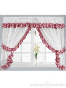 Checked Kitchen Curtains Gingham Check White Kitchen Curtain Curtains Uk