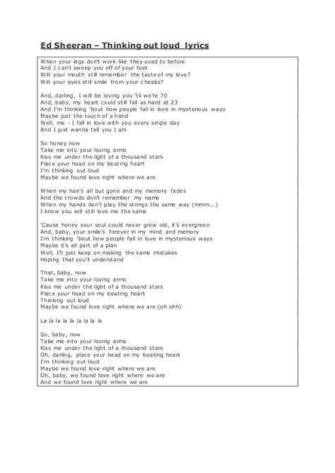 ed sheeran annotated lyrics by ashraf