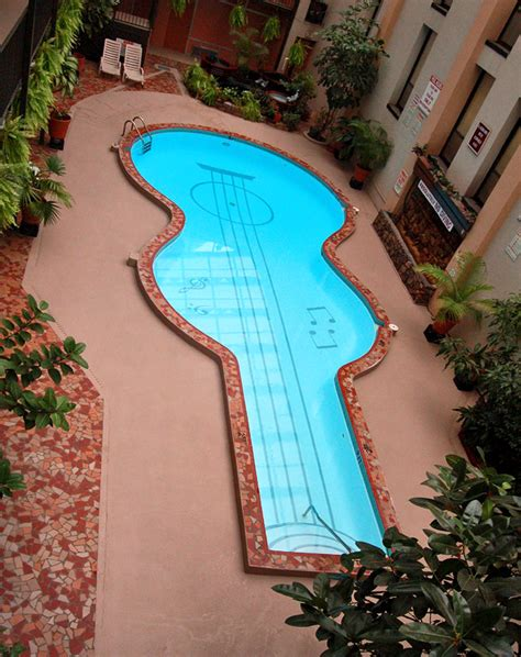 guitar shaped swimming pool the most creative home swimming pool solutions sarner