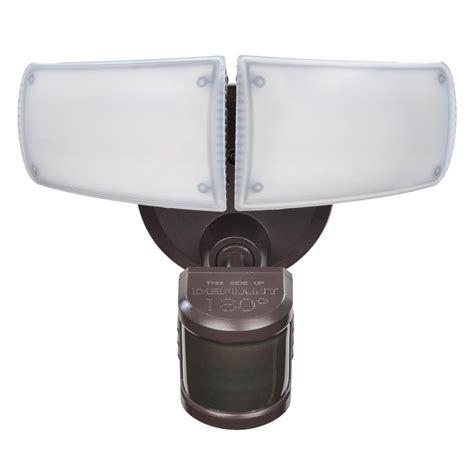twin head outdoor light defiant 180 176 bronze motion activated outdoor integrated