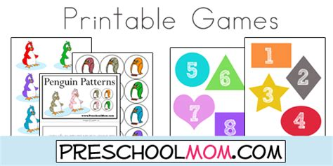 printable kindergarten alphabet games free preschool file folder games from preschool mom abc