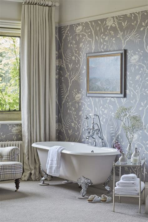 wallpapered bathrooms ideas bathroom wallpaper ideas peenmedia