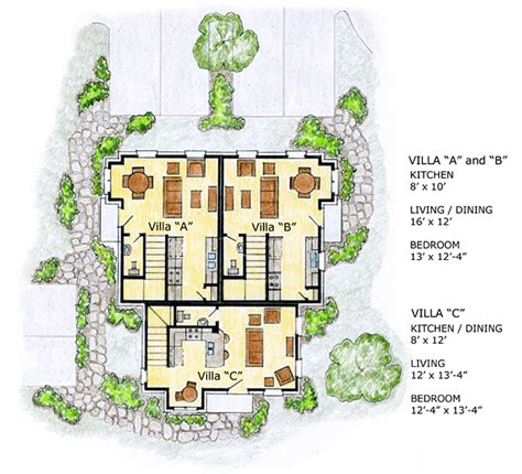 multifamily home plans multi family plan 56561 at familyhomeplans