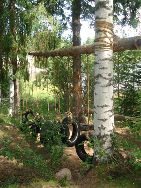 tire swings pinterest a play area bursting with tire swings weekend projects