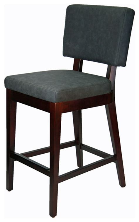 leather bar stools counter height leather kitchen counter height stool in graphite gray