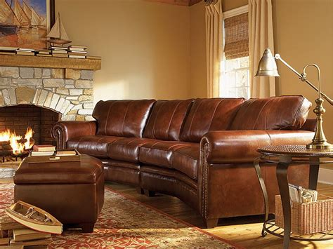 leather sectional rustic sofa rustic lodge cabin