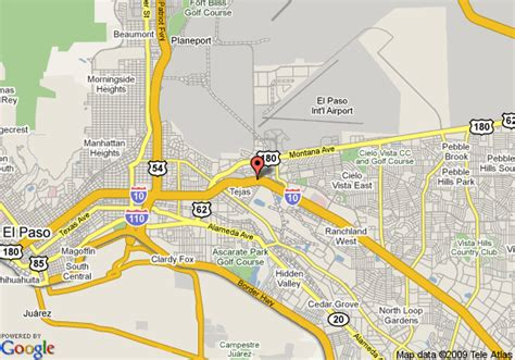 elpaso texas map map of residence inn by marriott el paso el paso