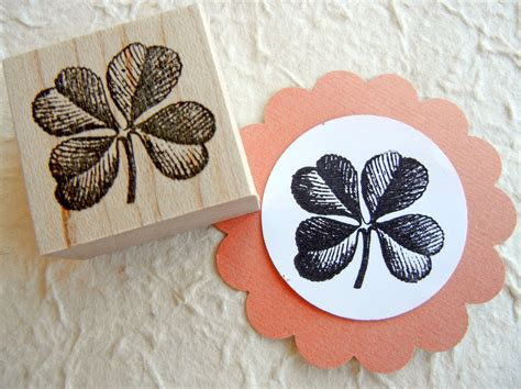 etsy rubber st four leaf clover shamrock rubber st st patricks day