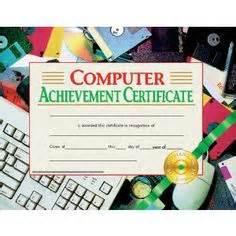 computer certificate templates language arts achievement certificate 30 pack