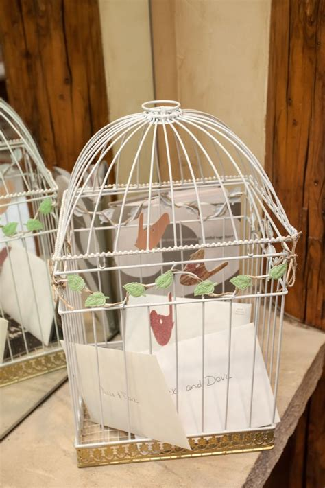 diy bird cage wedding card holder here comes the