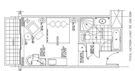 Hotel Room Design Plans by Hotel Design Guestroom Sle Plan 9