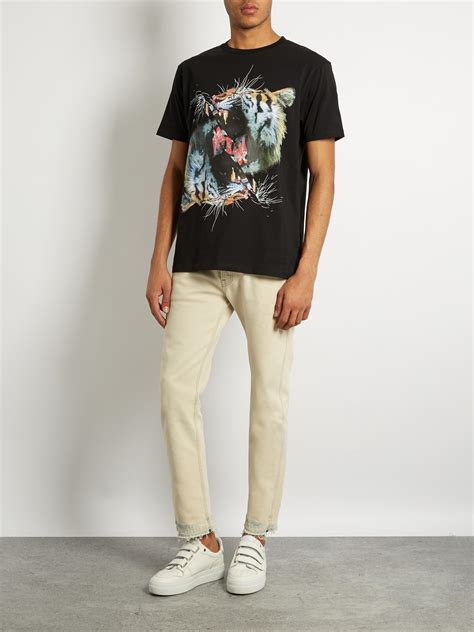 Tshirt Of Machines Alba Match Item marcelo burlon vicente cotton jersey t shirt in black for
