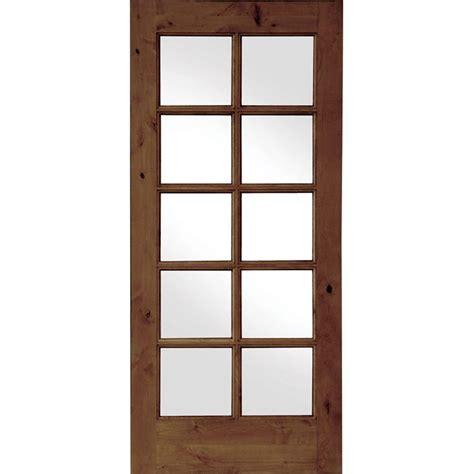Tempered Glass Closet Doors Krosswood Doors 30 In X 80 In Krosswood Knotty Alder 10 Lite Tempered Glass Solid Left