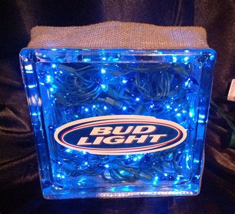 bud light on sale bud light glass block unique gift by the bar man
