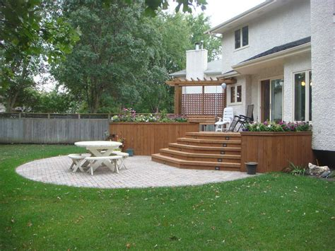 deck backyard ideas landscape ideas deck and patio