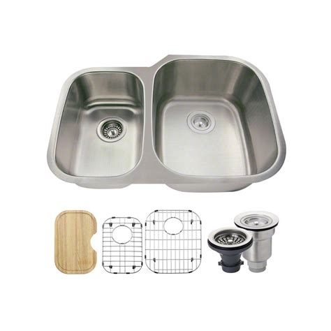 Mr Direct Kitchen Sinks Reviews Mr Direct All In One Undermount Stainless Steel 29 In Right Bowl Kitchen Sink 506r 18