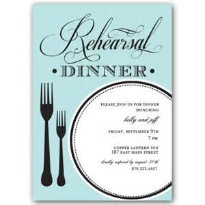 plate rehearsal dinner invitations paperstyle
