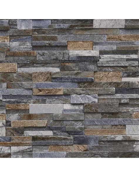 wallpaper grey slate slate stone brick effect wallpaper 3d vinyl textured grey