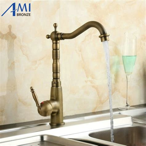 12 Quot Antique Brass Faucets Kitchen Swivel Crane Sink Crane Bathroom Fixtures