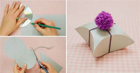 Make Cd Out Of Paper - wonderful diy easy square pillow paper gift box