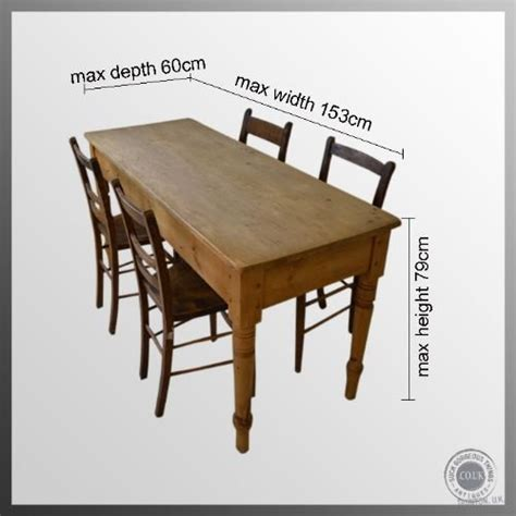 antique pine kitchen dining table narrow 4 6