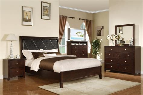 5 pc queen espresso finish wood bedroom set with black a m b furniture design bedroom furniture bedroom