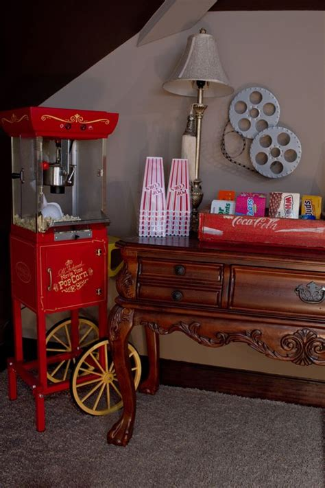 room of popcorn our diy home theater i popcorn machines and the