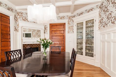 built in china dining room corner china dining room traditional with brick