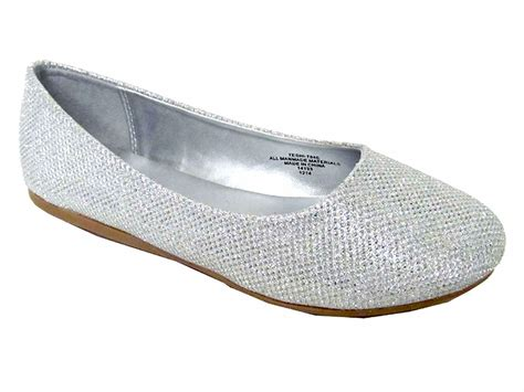 Flat Shoes Glitter Gold silver glitter flat shoes