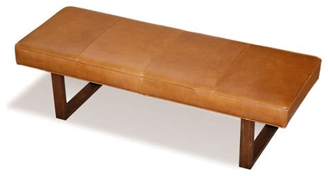 leather upholstered bench leather upholstered bench distressed brown midcentury upholstered benches by