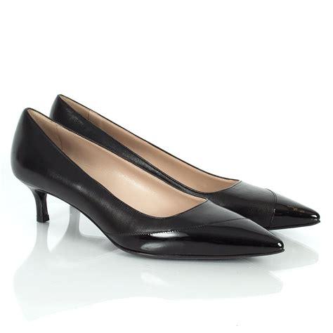 miu miu black pradesh pointed court shoes