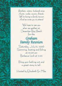 Wedding Reception Program Wording Family Reunion Invitation Style Wmfr 08