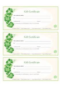 Free Gift Certificate Template by Gift Certificate Template Free Printable Gift