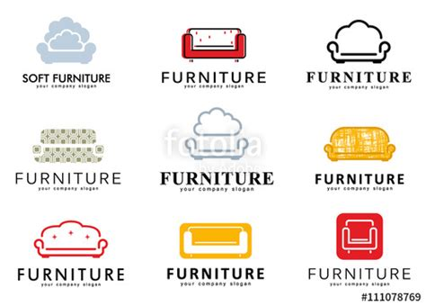 Buy Armchairs Online Quot Set Logo Emblem And Logo Elements For Furniture Store