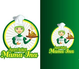 desain logo makanan ringan stiker makanan satu sticker