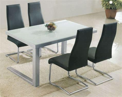 Modern Glass Top Dining Set Ol 5