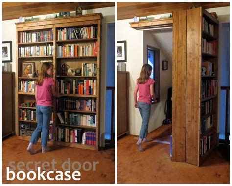 how to build a secret door bookcase