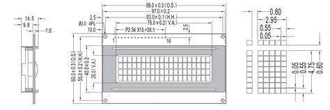 lcd display alphanumeric dot matrix custom electronic