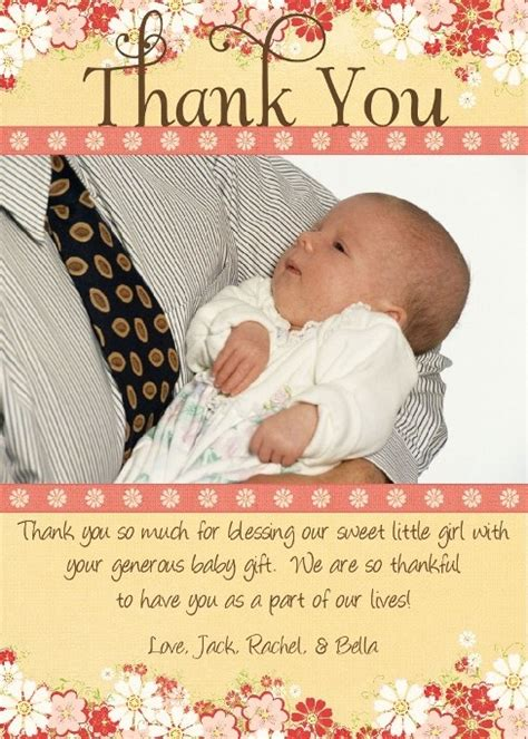 Thank You Card Wording For Baby Shower Gift - baby shower gift card thank you wording baby shower decoration ideas