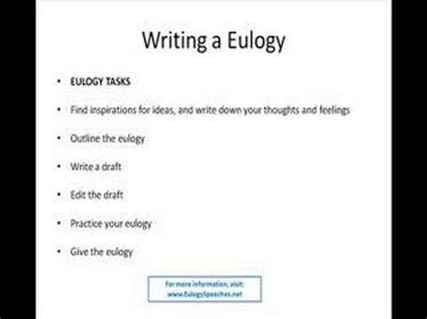eulogy outline template how to write eulogy speeches for eulogies and funeral