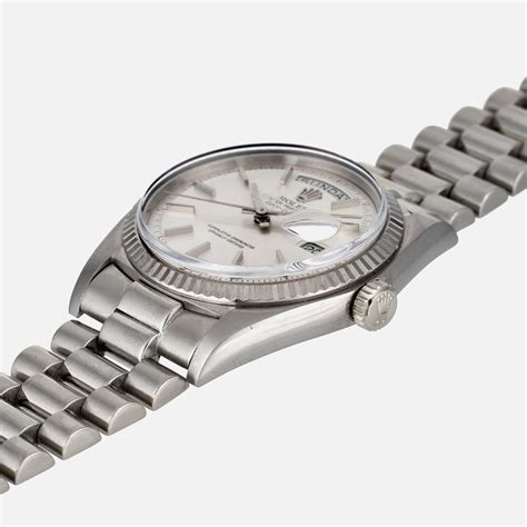 Rolex White Gold Coulor Fashion time for a 1974 white gold rolex day date the gentleman