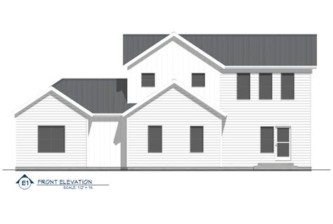 Modern Farmhouse Elevations by Modern Farmhouse Front Elevation Members Albums Category