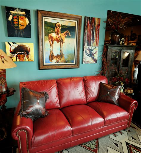 blue walls red couch red rugs and small sofa furniture sets in small modern