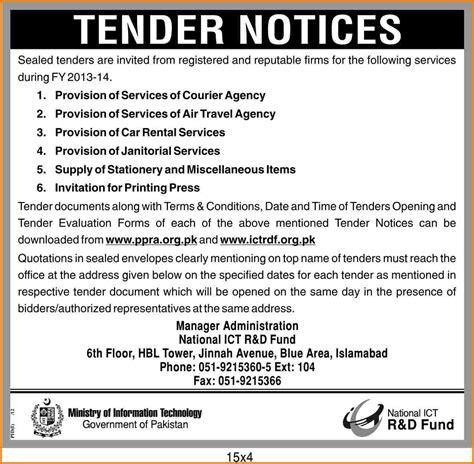sle tender document tender documents pinterest 8 exle of tender document quote templates lexar f