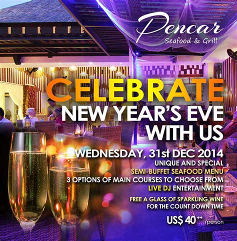 new year dinner 2015 and new year 2015 celebration with pencar