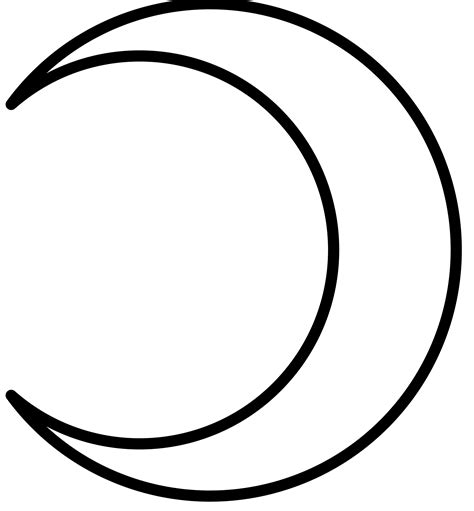 crescent moon crecent moon coloring pages