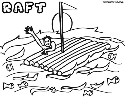 Raft Coloring Page raft coloring pages coloring pages to and print
