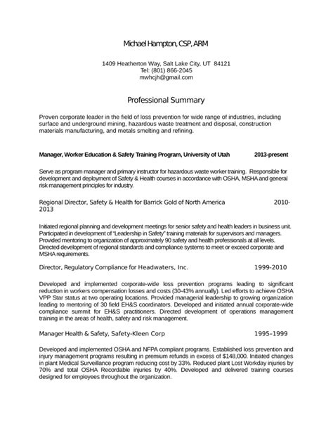 Loss Prevention Resume by Chronological Loss Prevention Manager Resume Template