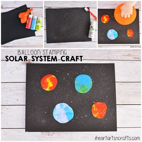 solar system arts and crafts for balloon sting solar system craft for i
